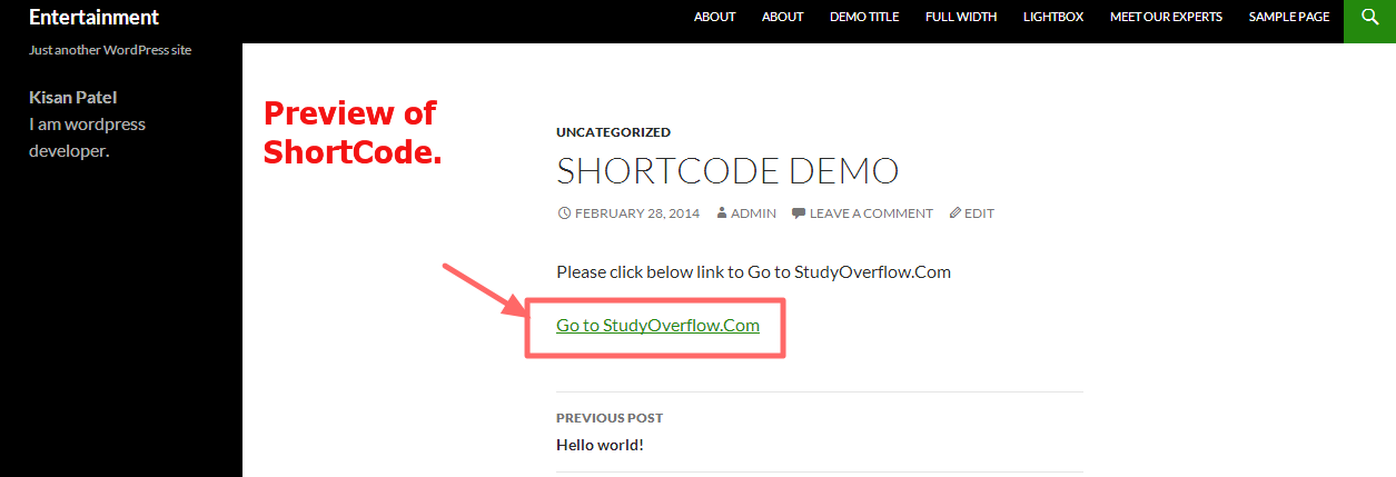 create-shortcode-demo