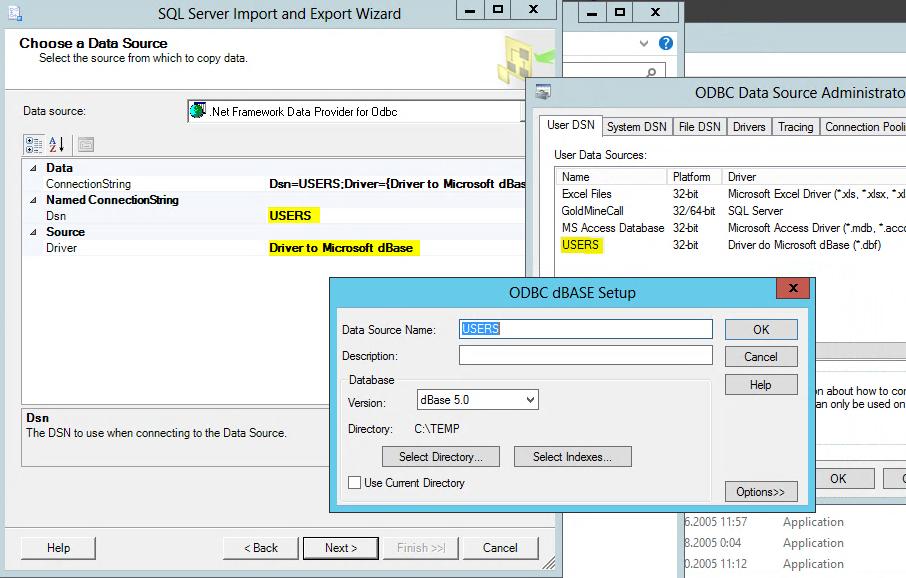 .Net Framework Data provider for ODBC