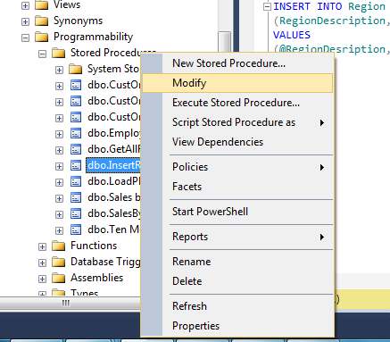 Alter/Modify Stored procedure in SQL Server - CSharpCode org